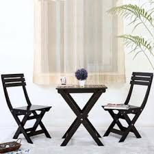 garden table and chair sets india. myrick balcony table and chair set (black) garden sets india