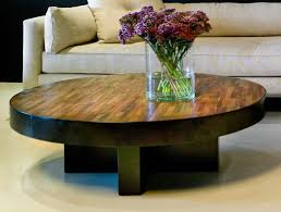 reclaimed wood round coffee table with pipe legs home furniture throughout reclaimed round coffee table