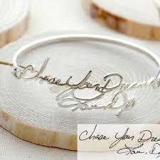 memorial signature bangle personalized handwriting bangle keepsake jewelry in