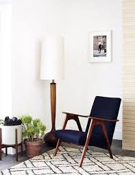 mid century lighting fixtures. White Mid-century Modern Lamp - Placed Near A Graphic Rug Mid Century Lighting Fixtures