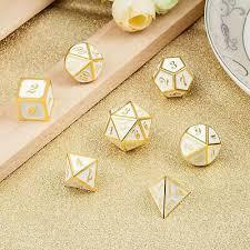 <b>7Pcs</b>/<b>set High</b> Quality Antique Metal Polyhedral Dice Role Playing ...
