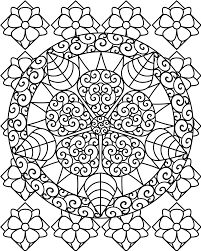Small Picture Abstract Coloring Pages For Adults Within Adult Flower Coloring