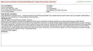 senior civil and structural drafter application letter draftsman cover letter