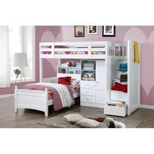 white bunk bed with stairs. Brilliant Bed In White Bunk Bed With Stairs M