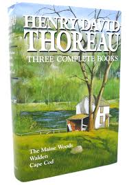 rare book cellar rare out of print books henry david thoreau three complete books the maine woods walden cape cod