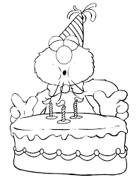 Small Picture Elmo Blows Candles On Birthday Cake Coloring Page H M Coloring