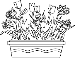 Spring Flowers Coloring Pages Flower Coloring Pages Of