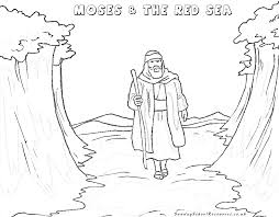 Moses Coloring Pages Click The Burning Bush To View Printable