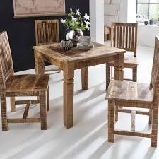 Wohnling Esszimmertisch Wl5077 Braun 80 X 80 X 76 Cm Mango Massivholz Design Landhaus Esstisch Massiv Tisch Für Esszimmer Quadratisch