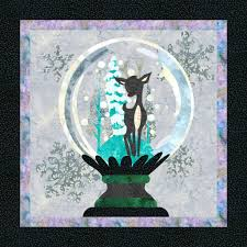 Snow Globe quilt pattern | QuiltFusion Quilts! | Pinterest | Globe ... & Snow Globe quilt pattern Adamdwight.com