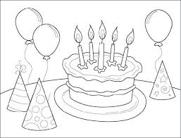 birthday coloring pages printable. Plain Birthday Birthday Coloring Pages For Free  Printable Happy Inside