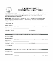 Employee Emergency Contact Form Template Medical Information Form Template
