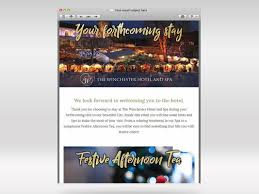 Winchester Website Design The Winchester Hotel And Spa Email Marketing Campaigns