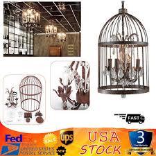 vintage birdcage metal cage chandelier pendant light crystal ceiling pendant