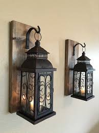 home decorating ideas rustic wall sconce wooden sconcesset of two sconces by lisamarieds
