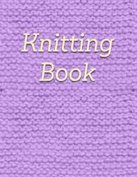 Knitting Book Knitting Graph Paper Notebook Purple Pattern Journal