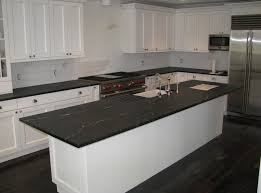 smart black soapstone countertop with white kitchen furniture