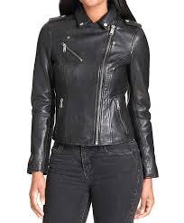 terrace black asymmetrical womens riding jacket
