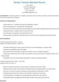 Sample Transition Specialist Resume | Resame | Pinterest