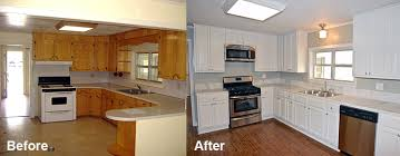 white painted kitchen cabinets before and after. Refinishing Kitchen Cabinets Without Stripping Before And After White Painted