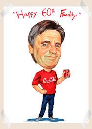 60 birthday man birthday gift caricature