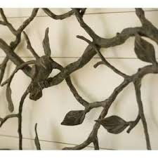 pottery barn metal bird wall art