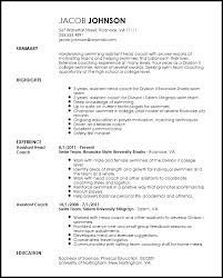 Sample Sports Resume Free Professional Sports Coach Resume Template Resume Now