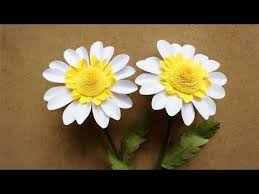 Daisy Paper Flower Abc Tv How To Make Daisy Paper Flower From A4 Paper