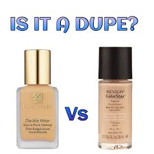 is it a dupe estee lauder double wear stay in place makeup vs revlon colorstay makeup double wear light