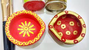 Diya Painting Designs Easy Ways To Decorate Plain Diyas Part 2 Small Diya