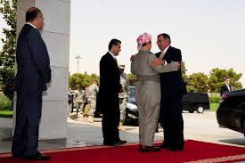 u s department of defense photo essay u s defense secretary leon e panetta greets kurdistan regional government president masoud barzani in erbil