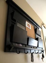 mail organizer cork board with key