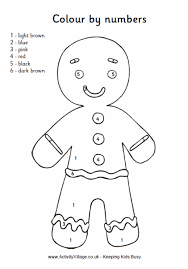 Small Picture Gingerbread Man Colouring Page