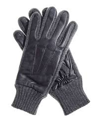 men s knit leather palm gloves with thinsulate lining
