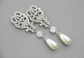 wedding chandelier earrings bridal earrings pearl earrings drop earrings crystal long dangle earrings bridal jewelry ready to ship