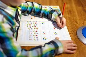 Child completes homework