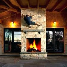 two sided fireplace indoor outdoor double wood burning