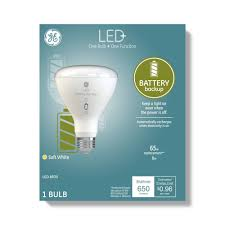 Power Outage Light Bulbs General Electric Br30 Battery Back Up Led Light Bulb