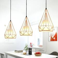 modern plated rose gold diamond cage cord pendant ceiling light fixture fixtures lighting s manhattan