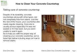 cleaning concrete countertops sanding concrete finished concrete