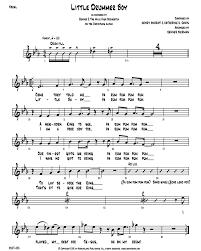 Little Drummer Boy Vocal Rhythm Chart