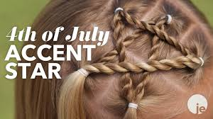 Fourth Of July Hairstyles 4th Of July Accent Star Braid Holiday Hairstyles Youtube