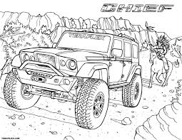 amazing jeep coloring pages police colouring safari army rubicon teraflex