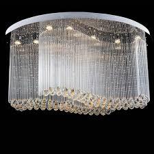 new modern oval crystal chandelier luxury jpg