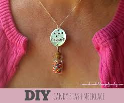 diy candy stash necklace