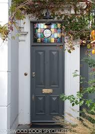 solid victorian front door painted dark