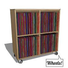 vinyl record storage furniture. Urbangreen Media LP Record Cabinet - On Wheels! Vinyl Storage Furniture S