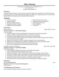 carpenter resume example carpenter resume example will give general contractor resume samples