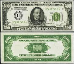 value of old 500 bills guide