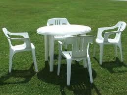 garden furniture set 4 plastic white